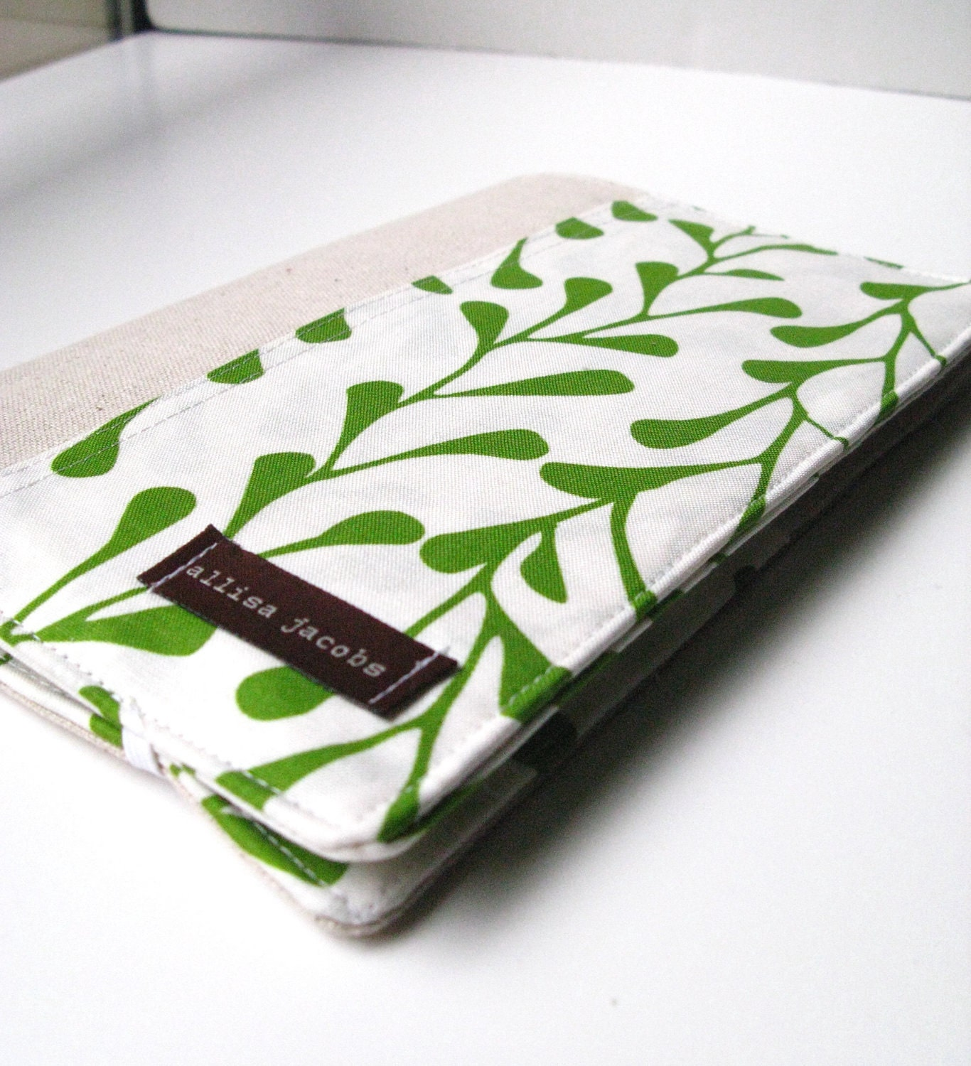 List Taker Organizer - Spring Green Vines (without notepad) - allisajacobs