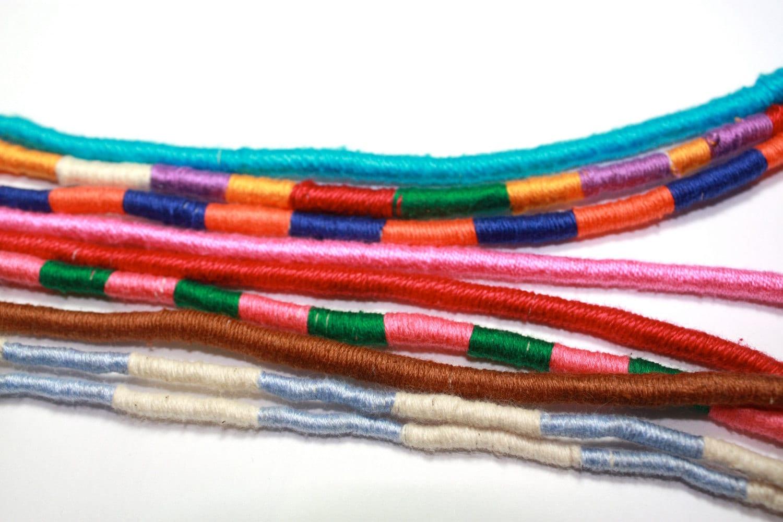 cotton thread wrapped necklace - raizaascanio