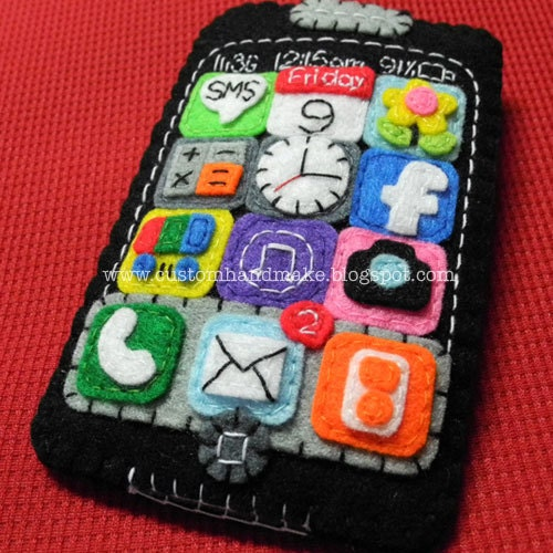 You got 2 mails iPhone Pocket Cozy