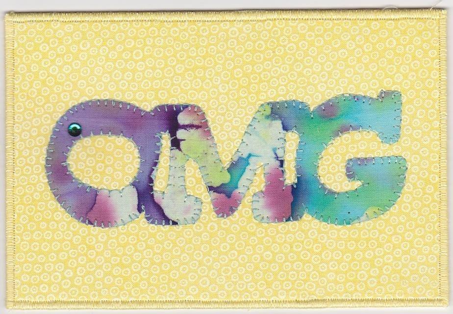 OMG Fabric Postcard