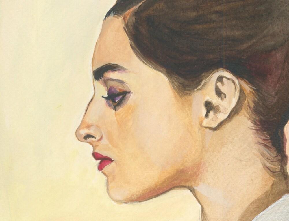 Giulietta - original gouache painting Fine Art - OhLaLaGalerie