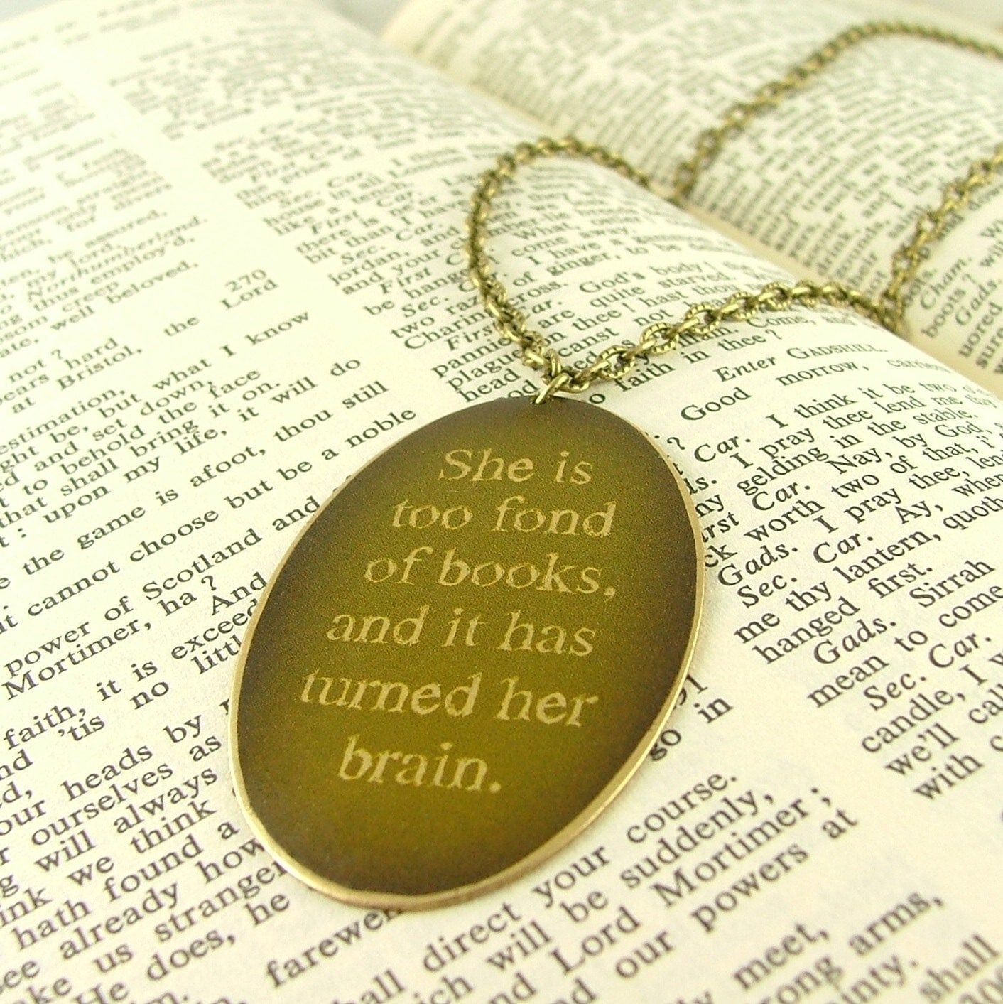 louisa may alcott, necklace