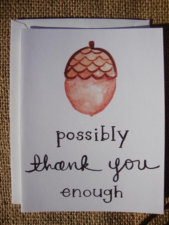 Acorny Thank You Card (set of 6)
