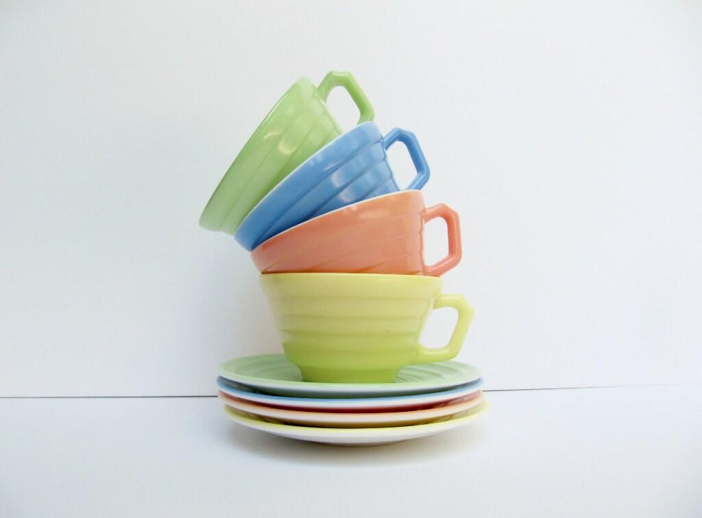 pastel vintage cups