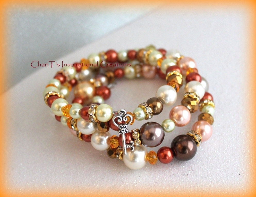 Key to my Heart memory wire bracelet