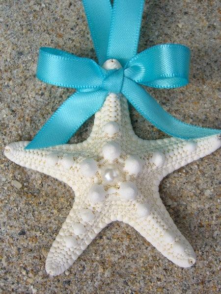 Starfish Beach Wedding Favor OrnamentTIFFANY BLUEBeach Weddings Wedding