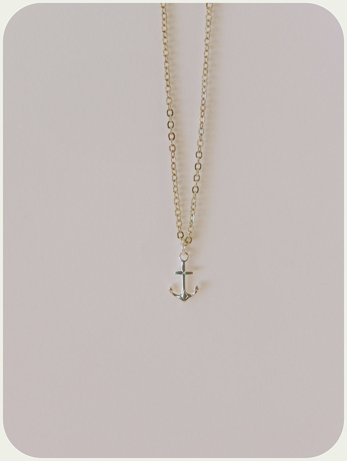 anchor necklace. Sterling Silver