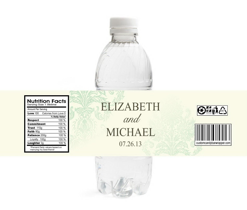 40 Custom Water Bottle Labels Bat Mitzvahs Welcome bags Quince Showers Hospitality Bags ready to apply for Weddings Sweet Sixteens