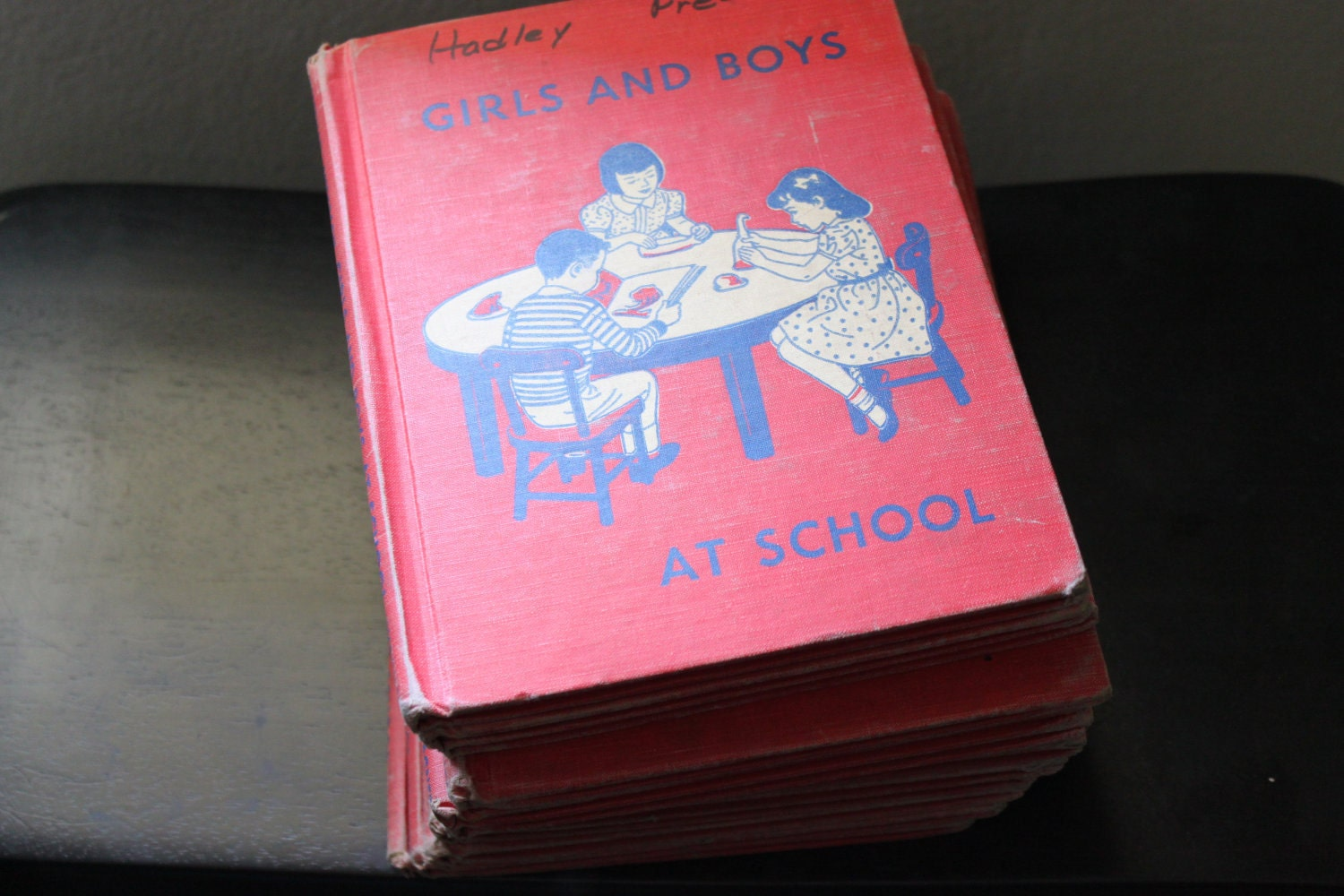 1956 Vintage Children's Book Girls And Boys At School - CultureShoppe
