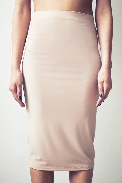 Jersey Column Skirt (S) Nude - LeilanniLand