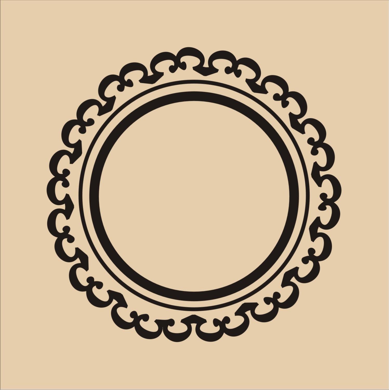 Stencil Circle Frame 01 Wall
