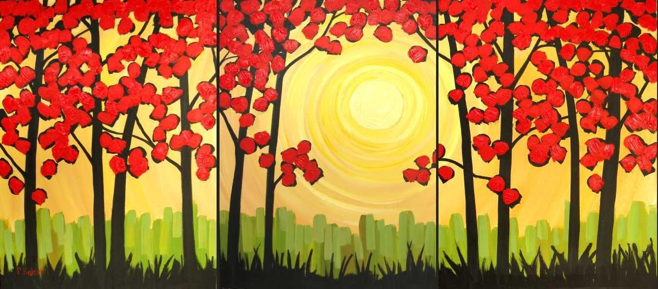 "Autumn Sunrise XI    24""x54""   FREE SHIPPING"