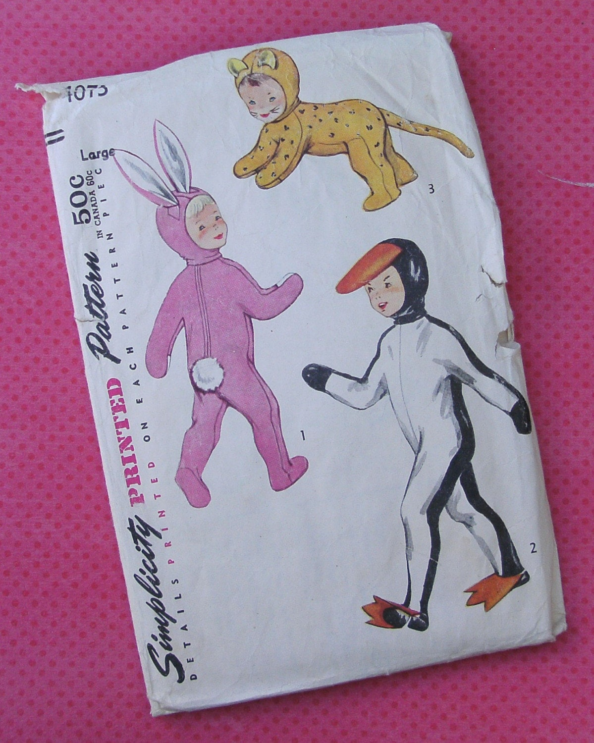 Vintage Sewing Pattern - Simplicity Children's Costumes - Size Large
