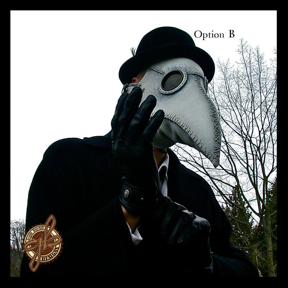 Plague Doctor Mask (White) Steampunk, Costume, Doctour De Peste