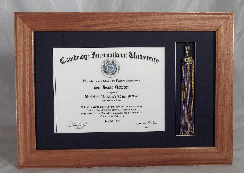 Diploma: Diploma Frame With Tassel Holder