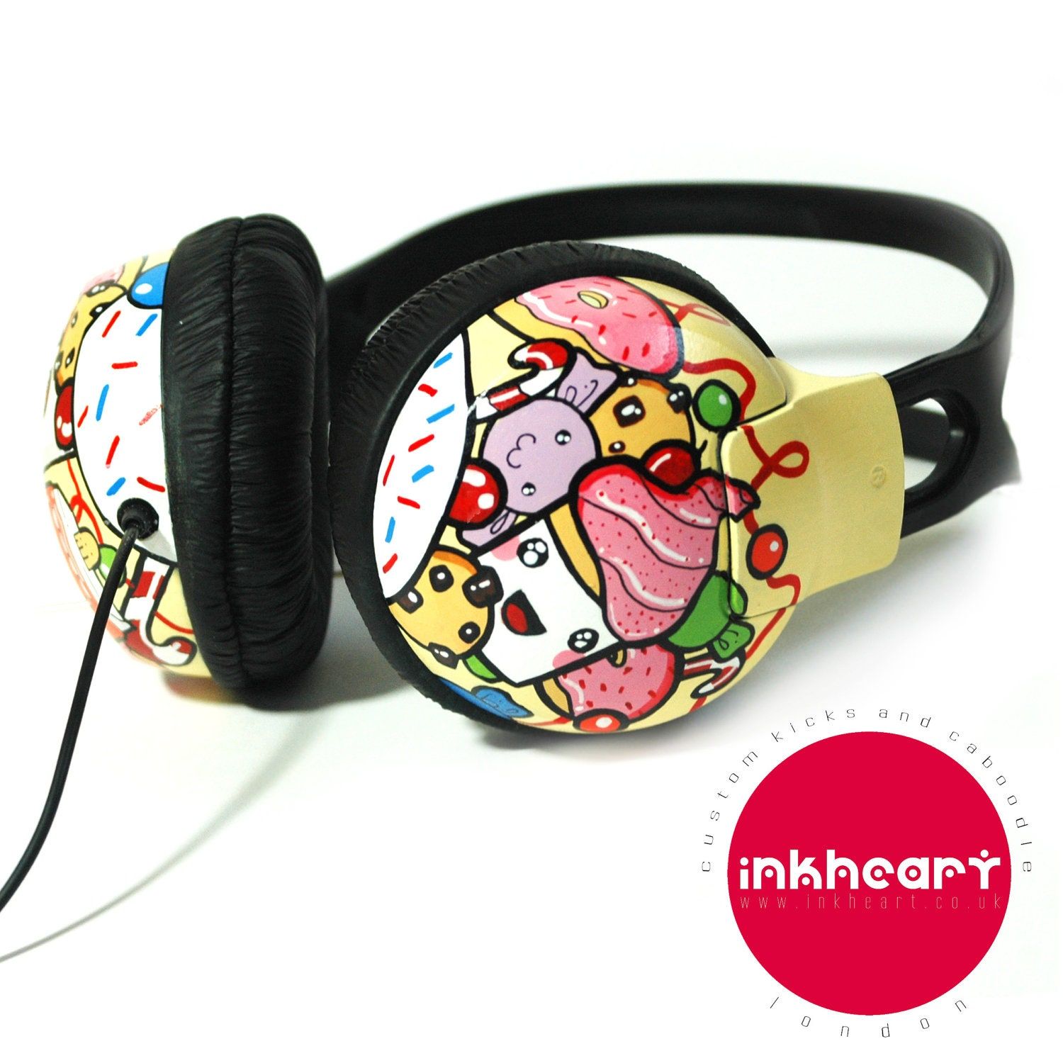 Handpainted Kawaii Candy Headphones