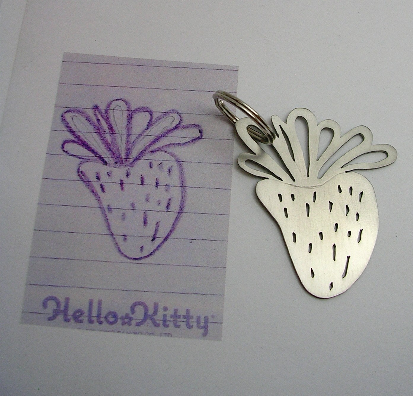Your child's drawing on key chain for DAD