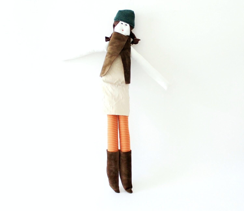 Handmade fabric doll Sicrana ooak by Fulana, Beltrana e Sicrana