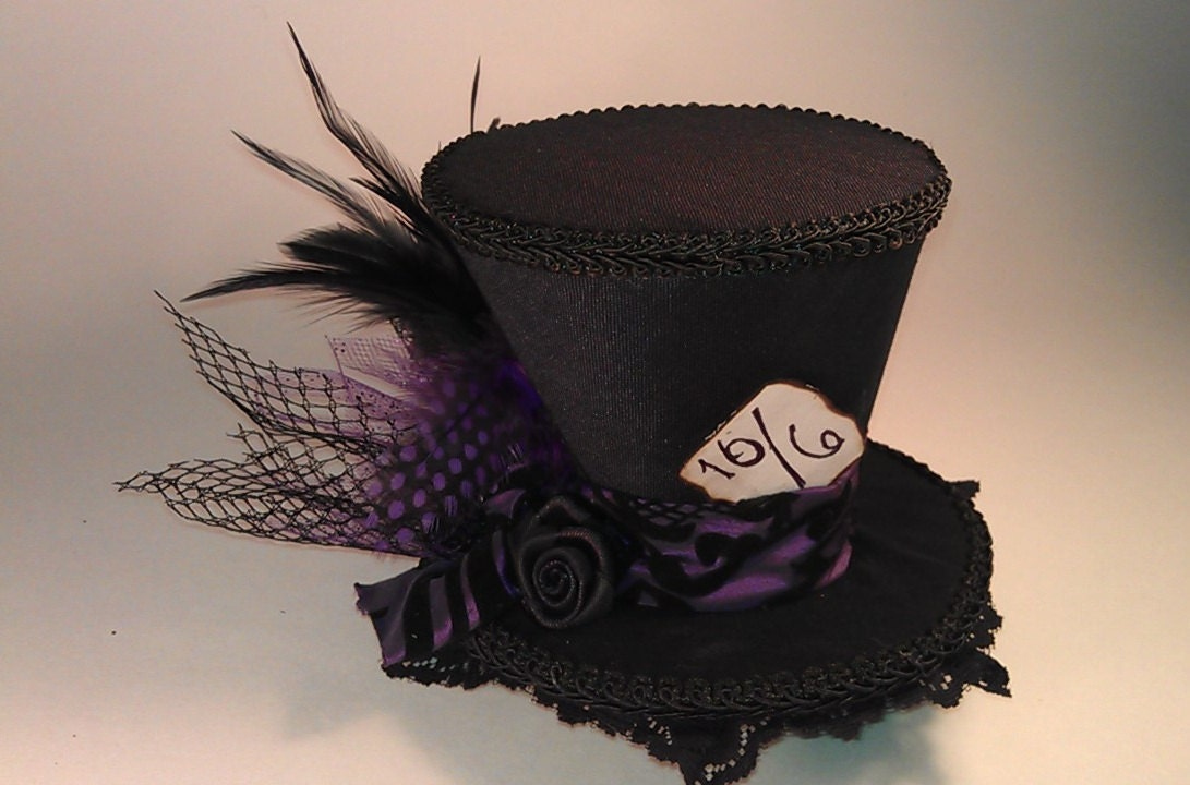 Mad Hatter Mini Top Hats Made to your desire Alice in Wonderland Tea Party - CandysHats
