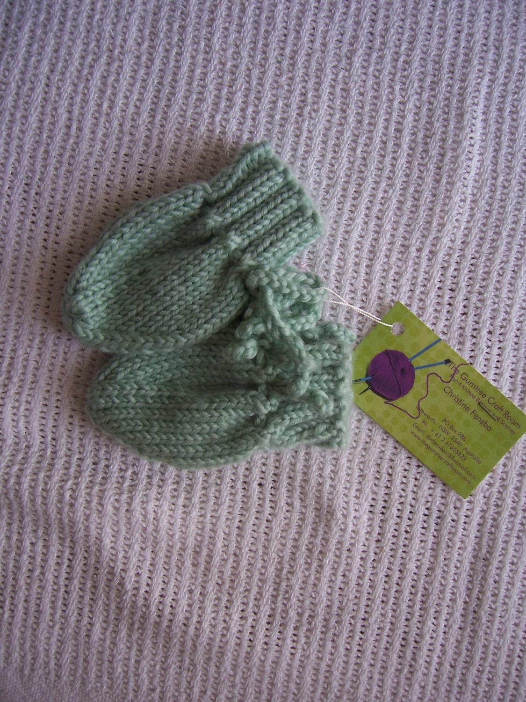 Handmade Knitted Baby Mittens