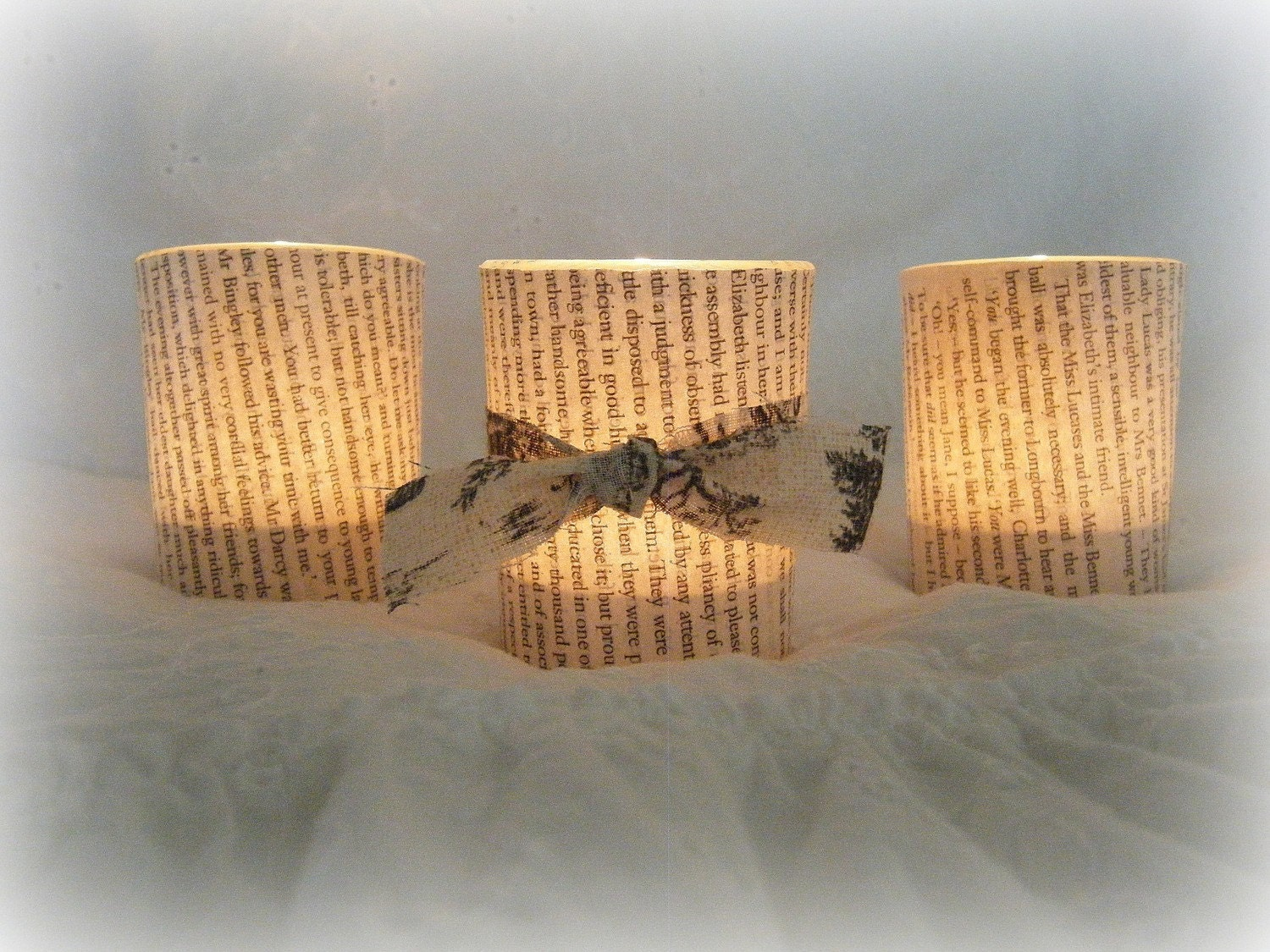 Pride & Prejudice Glass Votives (set of 3)