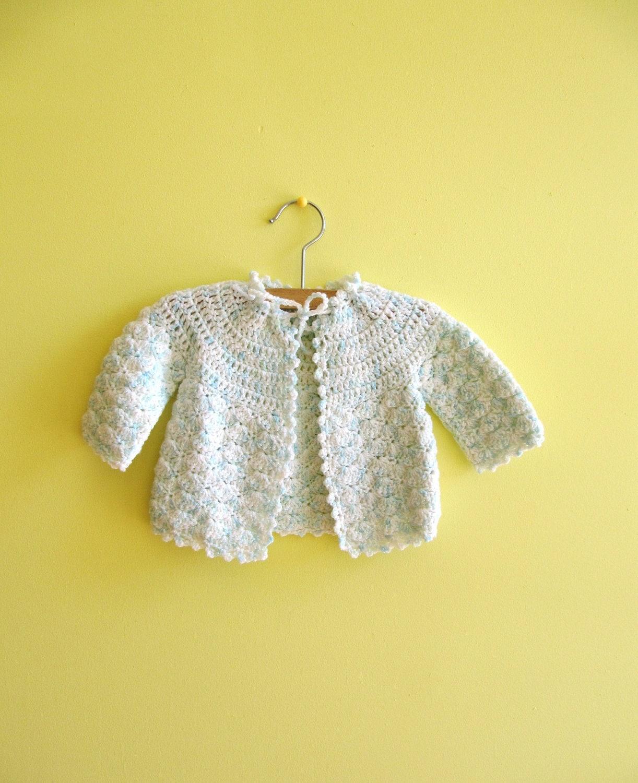 Sweet Seafoam Vintage Baby Sweater - malnclem