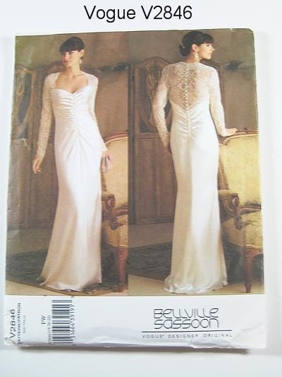Vogue Dress Pattern V2846 - BELLVILLE SASSOON - Evening Dress -  Sizes 18/20/22