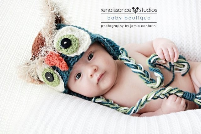 CROCHET PATTERN Mystic Owl Hat (5 Sizes Newborn to Adult ) Permission to sell all finished items