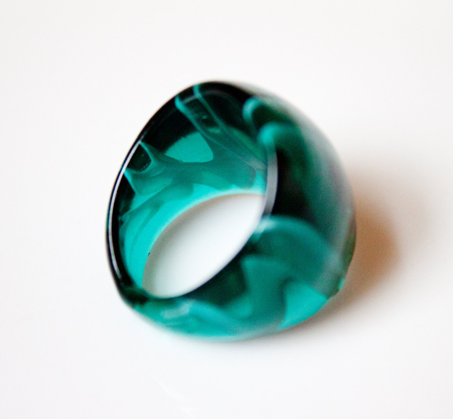 Green Glass Ring - HaynesHerWay