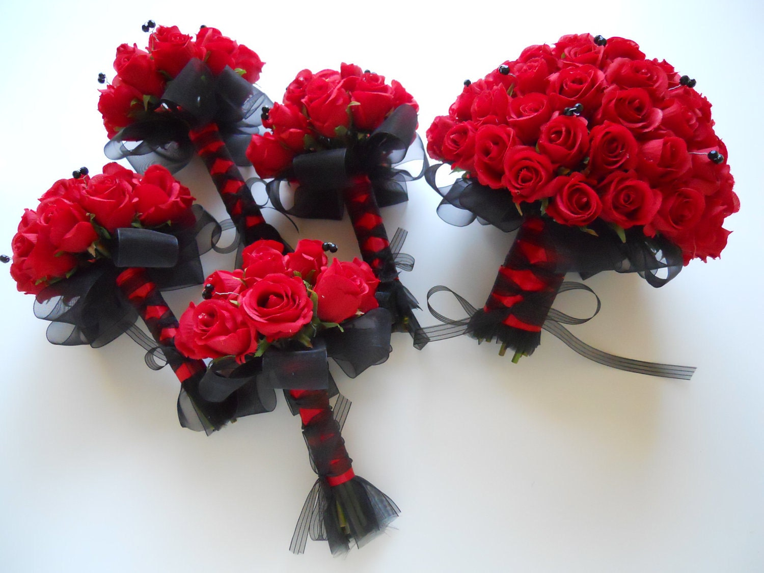Wedding Bouquets Red And Black : Gallery for gt red and black wedding bouquets