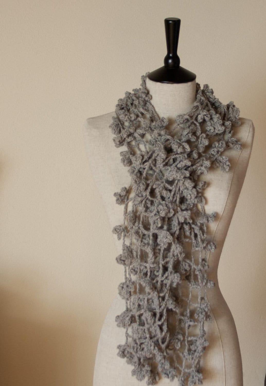 Lacy Striped Scarf -- Free Crochet Pattern