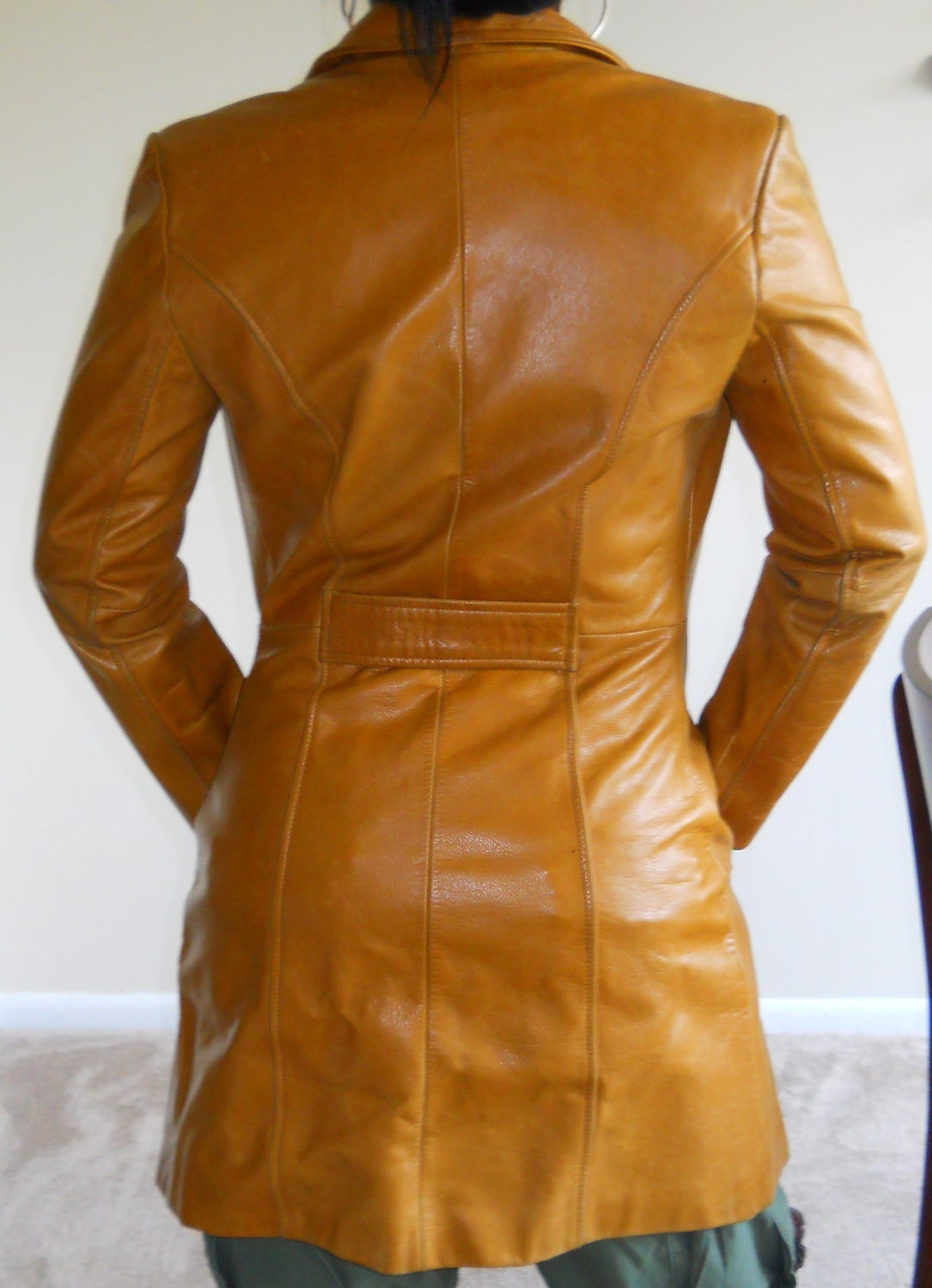 Butterscotch Leather Coat