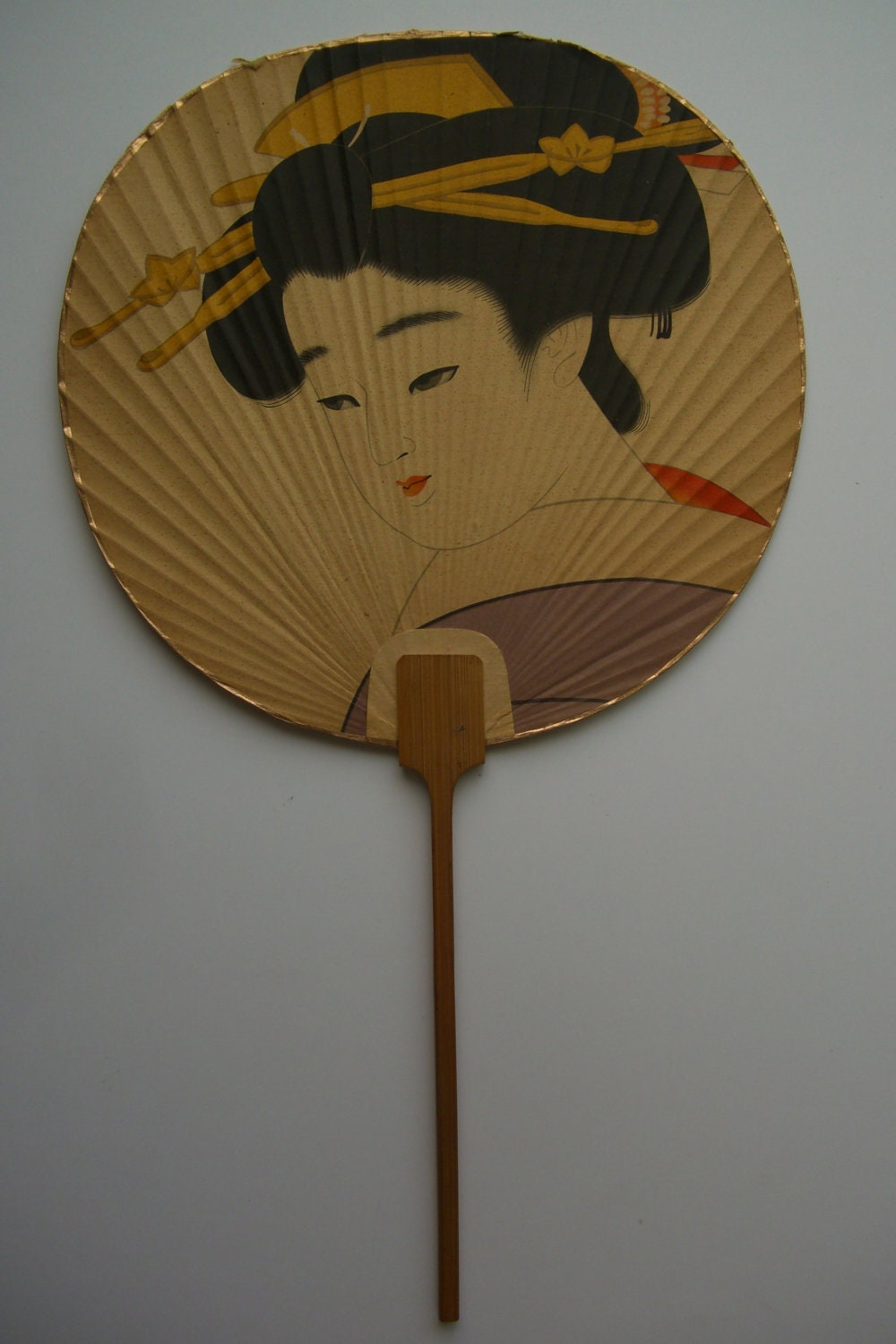 Great party idea traditional japanese paddle fans this attractive paddle fan set contains - Japanese paddle fan ...