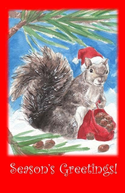 Squirrel Seasons Greetings - Drusilla