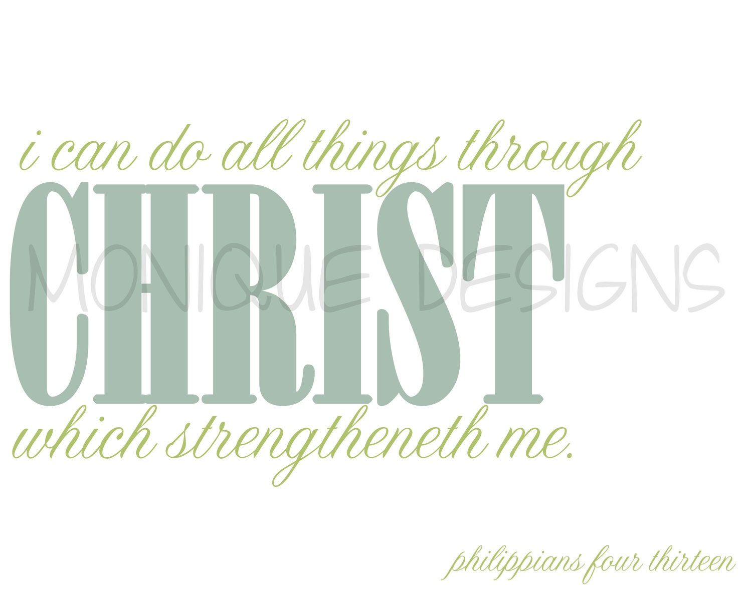 Philippians 4:13, I Can Do All Things, Digital Print , Scripture Art, Scripture Printable, Bible Verse, Print Art Wall Decor