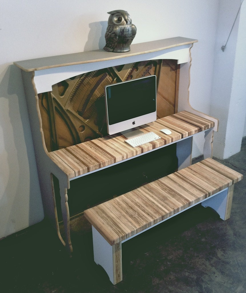 Salvaged Antique Piano Desk // iMac or MacBook (Limited Edition)
