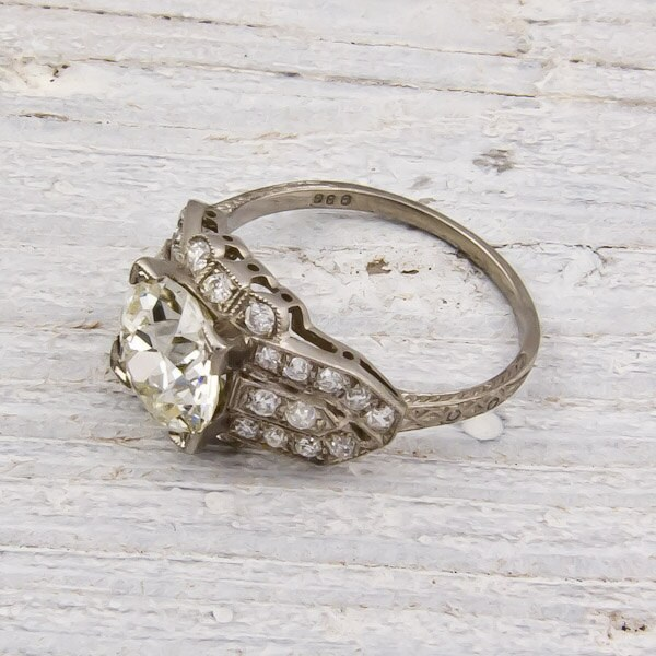 Old European-Cut 2.06 Diamond Engagement Ring