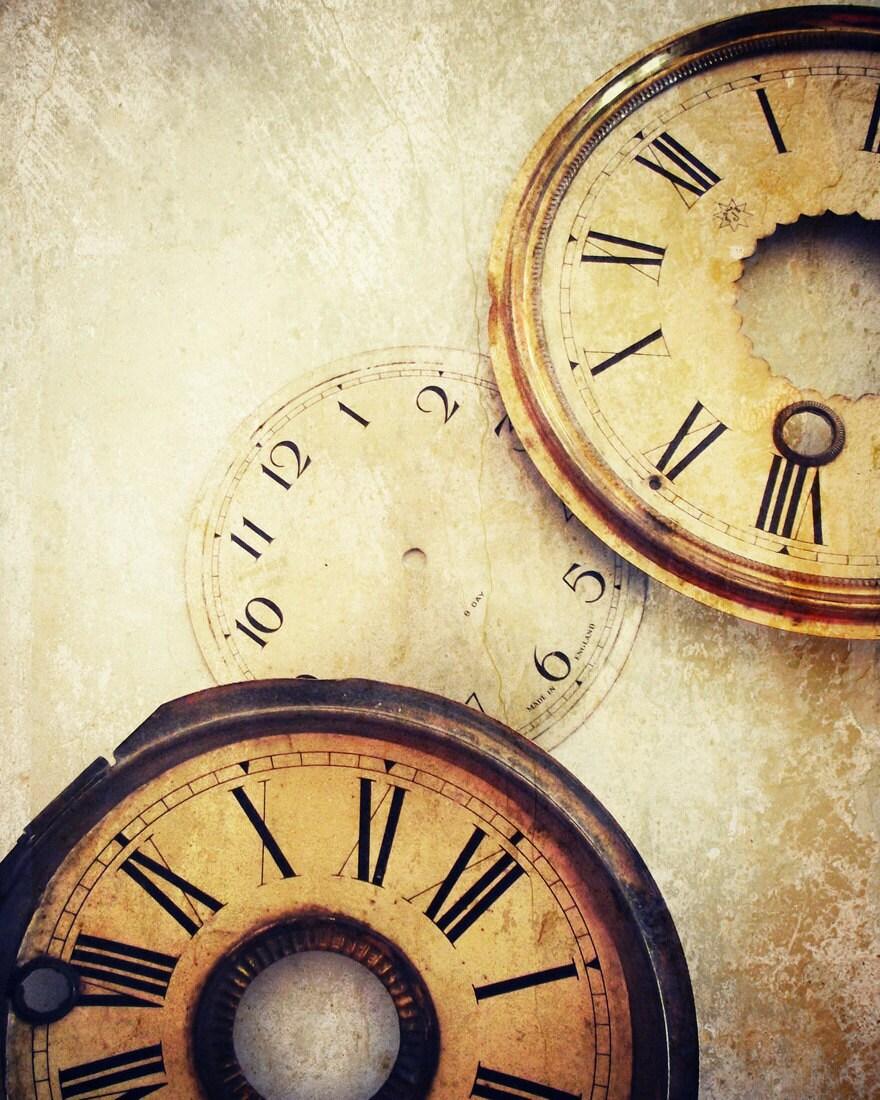 Steampunk Clock Photography  Clock Faces Home Decor BOGO 10x8 Print Timeless... - VictoriaEnglishCharm