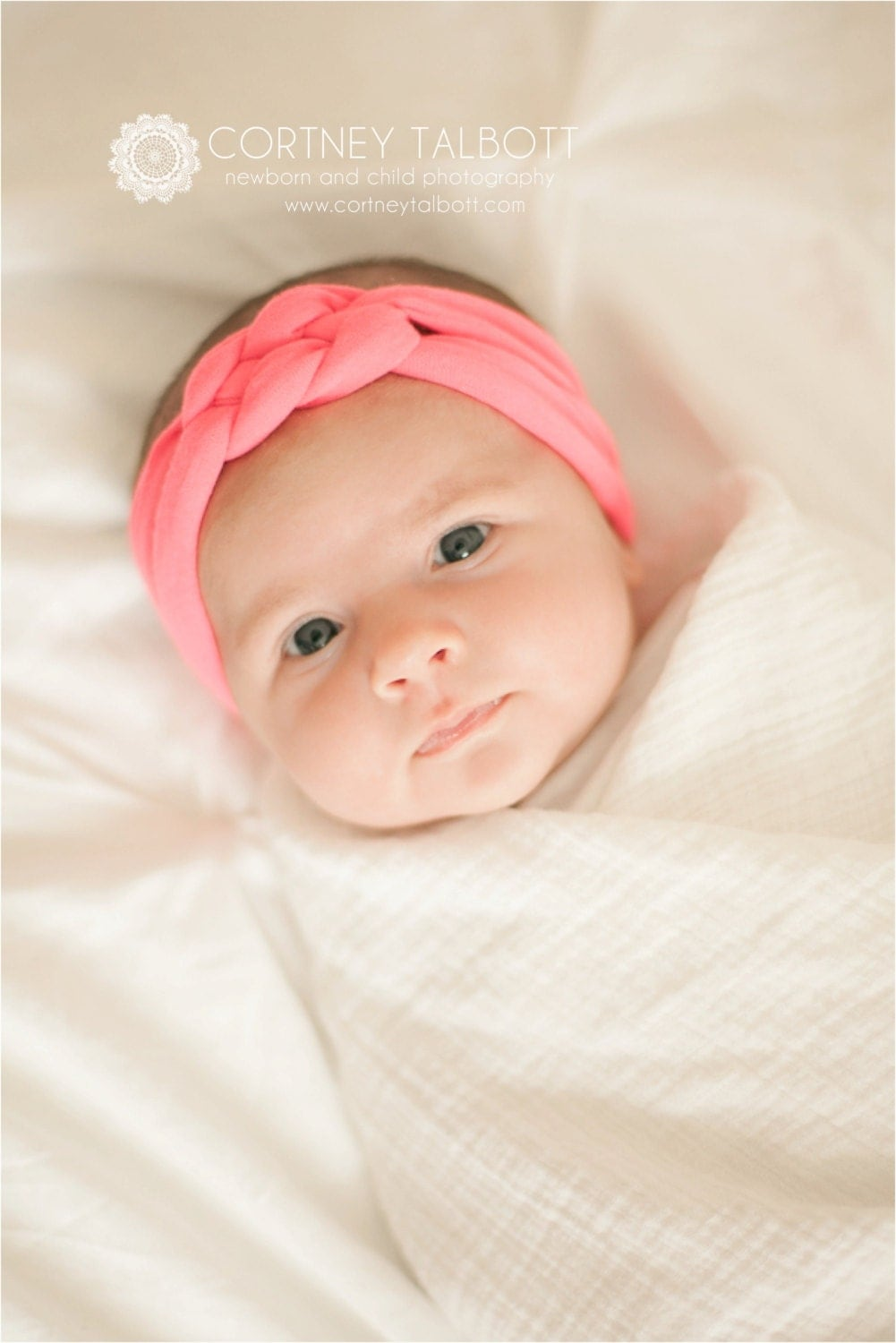 BOHO Collection: Neon Pink Knotted Jersey Knit Headband