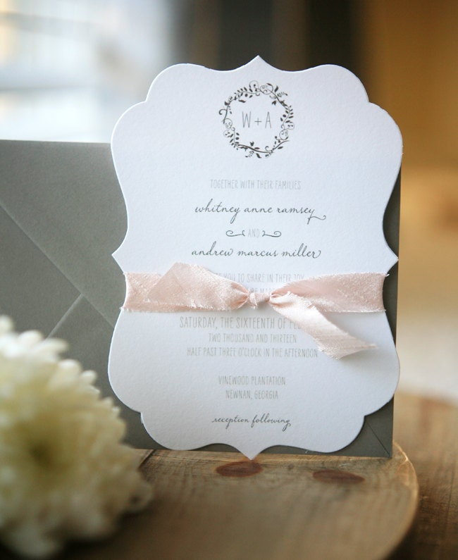 Plantation DieCut Wedding Invitation Suite