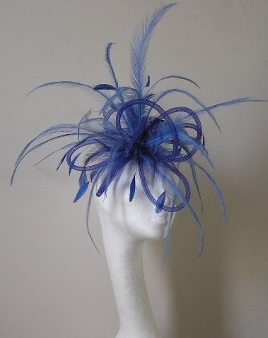 Royal Blue Wedding Fascinator Hat