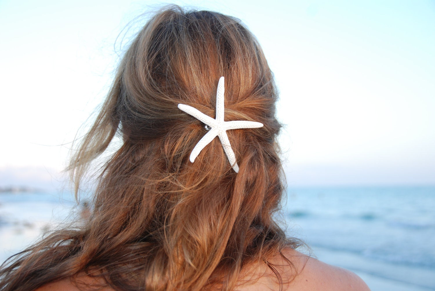 Thin Finger Starfish barrette or broach by IndianSummerGirls