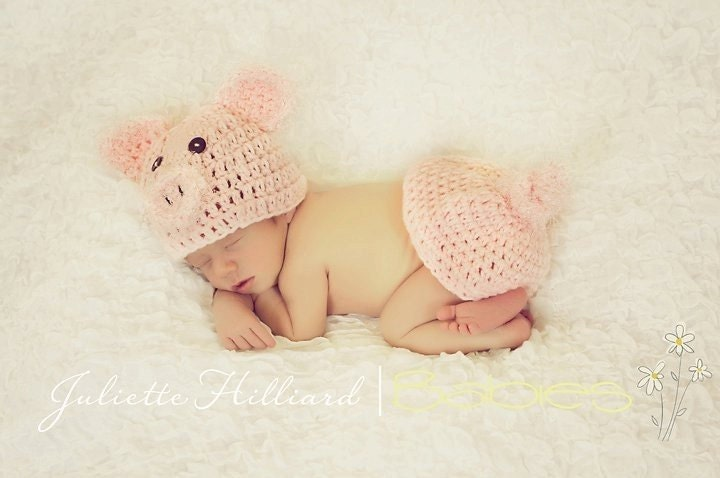 CROCHET PATTERN PDF-Piggy hat and Rump Cover