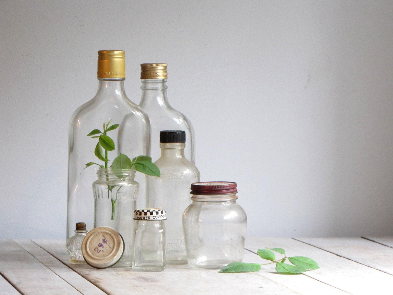 vintage collection of glass bottles - wretchedshekels
