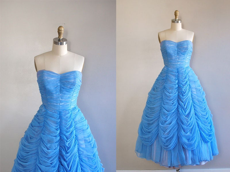 1950s party dress / 50s dress / The Morning Bell