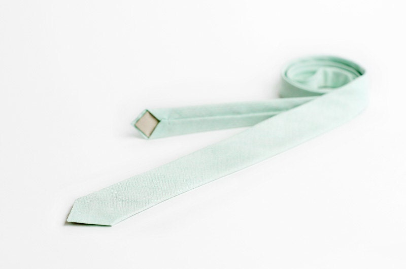 Mint necktie for men, skinny - APRILLOOKshop