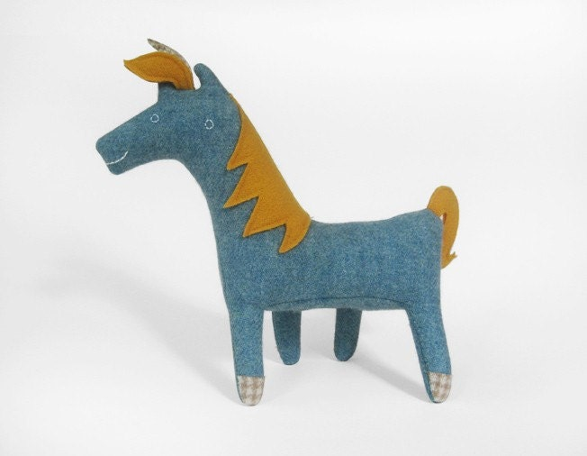 Unicorn no.56 light blue with golden details