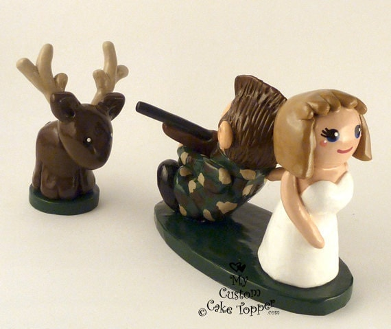 Hunting wedding cake topper Deer Hunting Cake Topper Duck Hunting Wedding