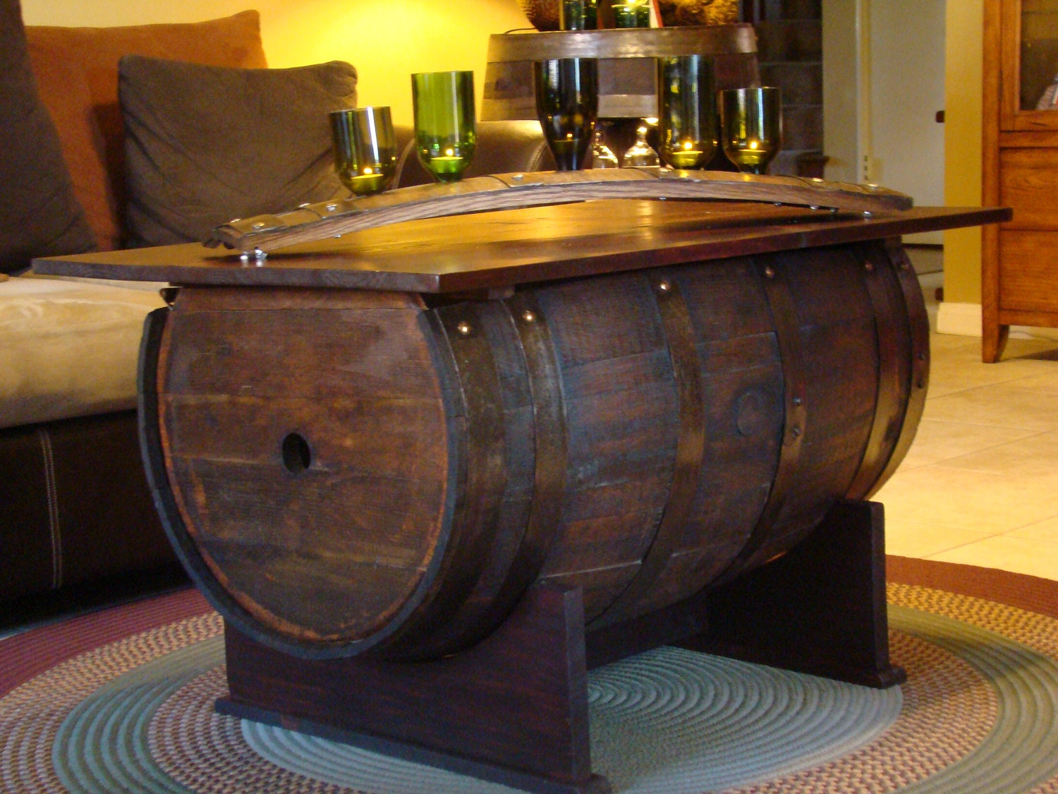 Dining table furniture wine barrel