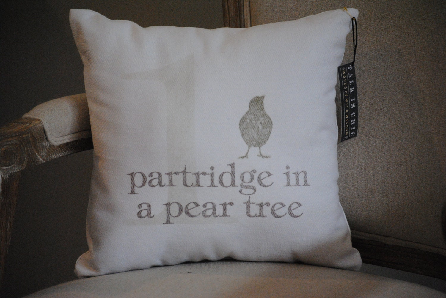 Partridge in a Pear Tree - Pillow - Christmas Decor - Holiday Home Decor